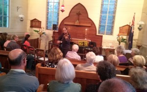 Violin virtuoso Murray van Hoorn performing at Christ Church